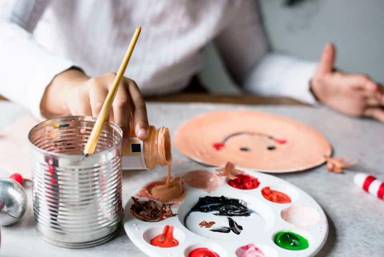planes niños pintura