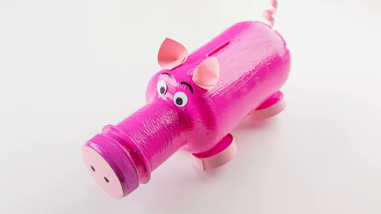hucha cerdo actividad niños