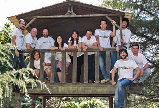 equipo de vermislab en la portada de la web