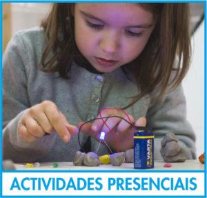 Nena aprendendo electrónica