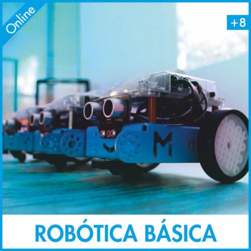 robots en una mesa