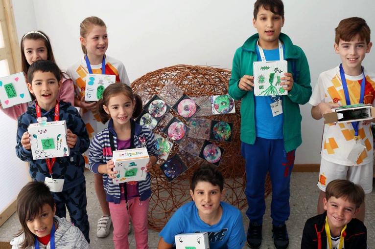 arte con bacterias exposicion alumnos proyecto de aula